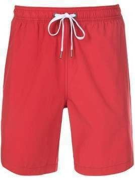 Onia plain swim shorts - Red