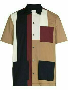 Wood Wood Brandon panelled shirt - Brown