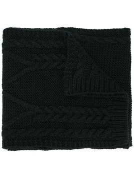 Moncler cable knit scarf - Black