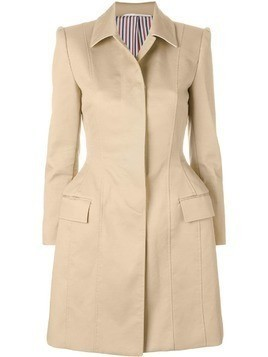 Thom Browne Mackintosh Bal Collar Tuck Hip Coat - Nude & Neutrals