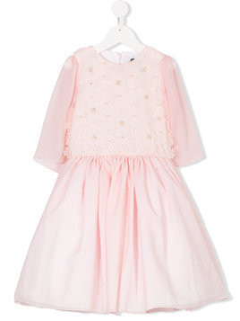 Love Made Love embellished flare dress - Pink