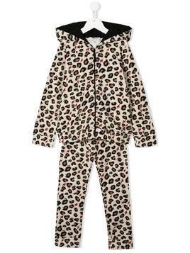 Twin-Set Kids leopard-print tracksuit - NEUTRALS