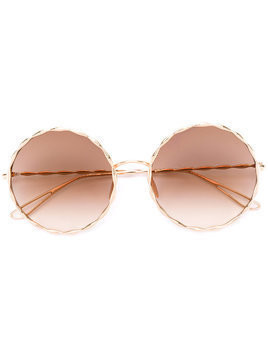 Elie Saab round framed sunglasses - Metallic