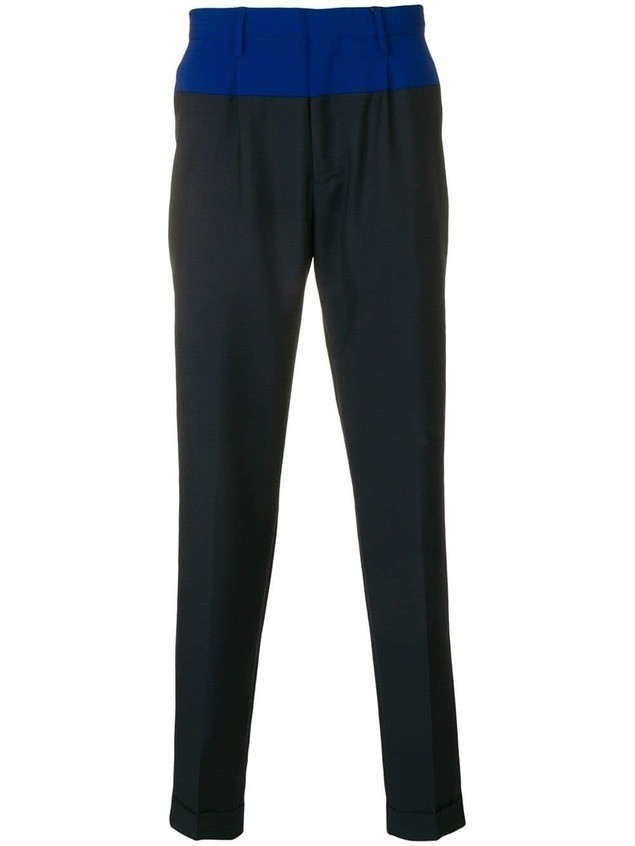 Tommy Hilfiger two-tone tailored trousers - Blue