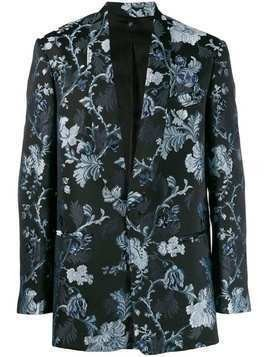 Christian Pellizzari floral embroidered blazer - Black