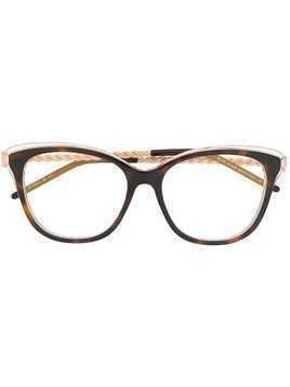 Elie Saab cat eye frame glasses - Metallic