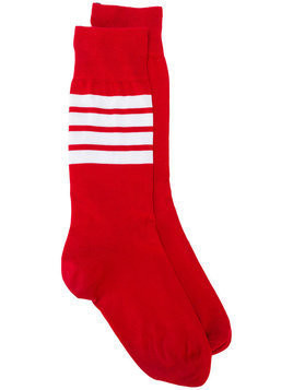 Thom Browne lightweight stripe detail socks - Red