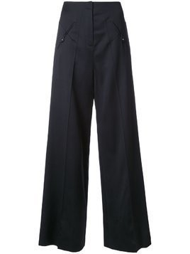 Esteban Cortazar low waist straight trousers - Black