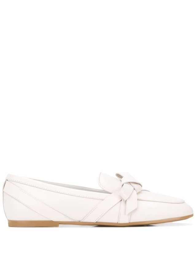 Tod's bow interlace loafers - White
