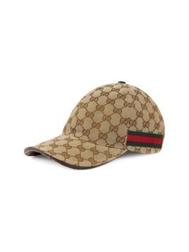 Gucci Original GG canvas baseball hat with Web - Nude&Neutrals