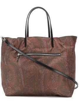 Etro reversible shopper tote - Brown