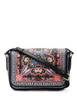 Etro ornate floral-print crossbody bag - Black