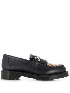 Dr. Martens leopard panel loafers - Black