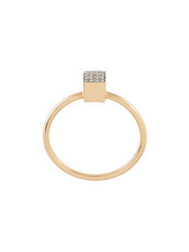 Ginette mini 'Ever Square' ring - Yellow