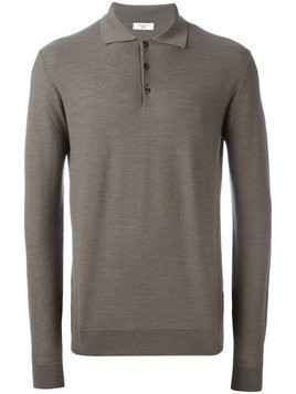 Fashion Clinic Timeless polo collar jumper - Brown