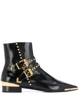Versace buckle stud ankle boots - Black