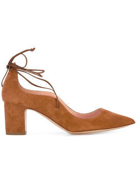 Rupert Sanderson lace up pumps - Brown