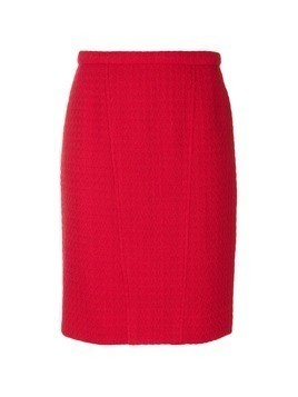 Chanel Vintage textured pencil skirt