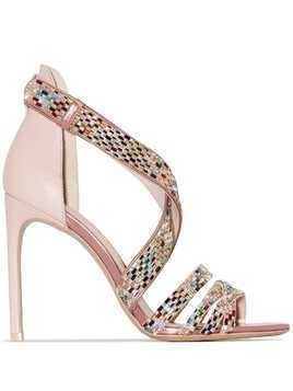 Sophia Webster Danae 100mm crystal-strap sandals - Pink