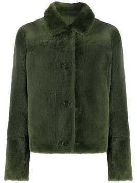 Yves Salomon buttoned reversible fur jacket - Green