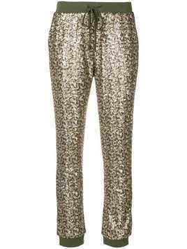 Twin-Set sequinned track pants - Green