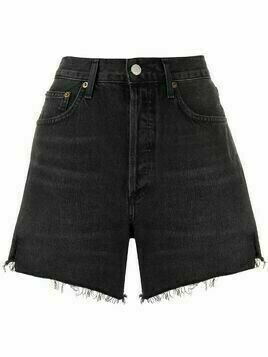 AGOLDE frayed edge shorts - Black