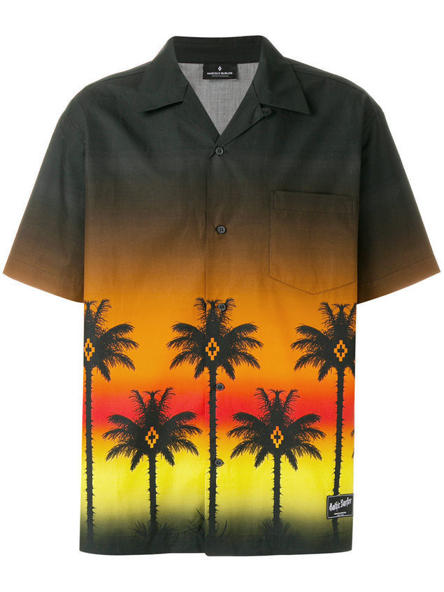 Marcelo Burlon County Of Milan Palms short-sleeved shirt - Brown