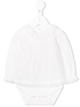 Tartine Et Chocolat ruffled body - White
