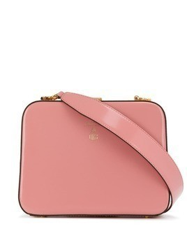 Mark Cross logo cross body bag - Pink