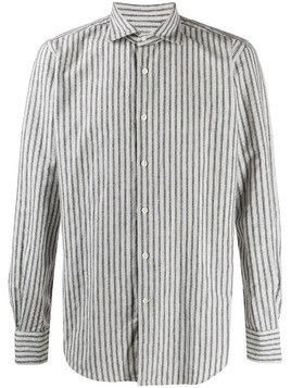 Glanshirt striped button up shirt - White