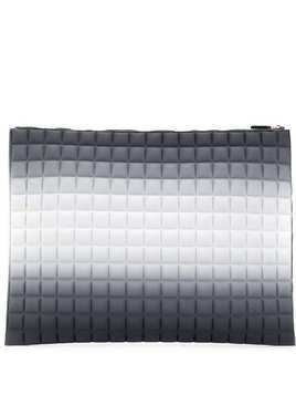 No Ka' Oi oversized padded clutch bag - Grey