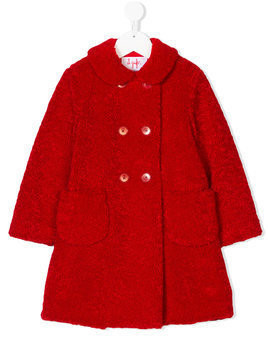 Il Gufo double breasted coat - Red