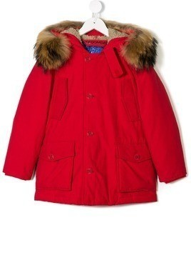Freedomday Junior hooded down jacket - Red