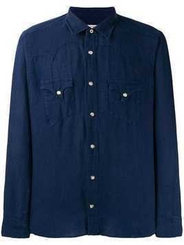 Al Duca D'Aosta 1902 chest pocket shirt - Blue
