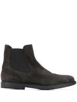 Fratelli Rossetti brogue detailing ankle boots - Grey