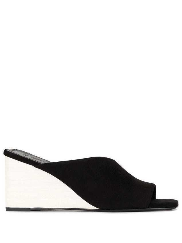 Mercedes Castillo asymmetric wedge sandals - Black