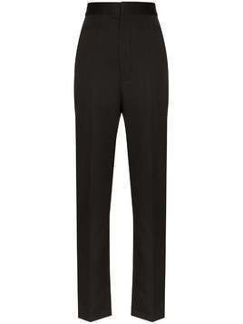 Haider Ackermann high-rise slim-leg trousers - Black