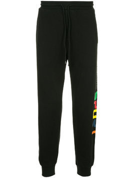 The Upside side logo track pants - Black