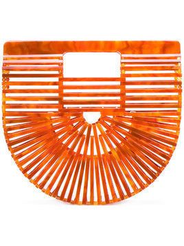 Cult Gaia Ark clutch bag - Yellow & Orange