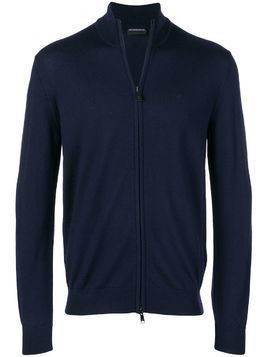 Emporio Armani zip-up cardigan - Blue