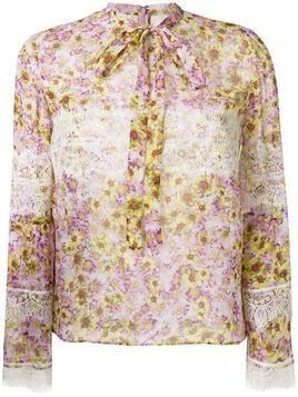 Giambattista Valli lace detail printed blouse - Unavailable