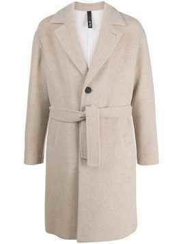 Hevo single-breasted belted coat - NEUTRALS