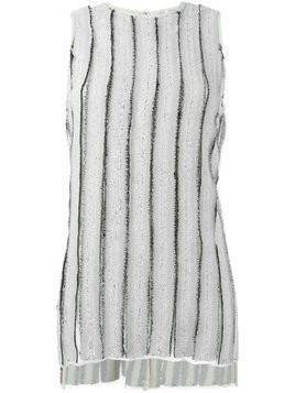 Proenza Schouler frayed stripe tank top - Grey