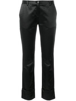 Romeo Gigli Pre-Owned cropped slim trousers - Black