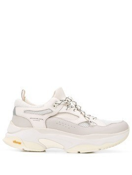Brandblack chunky low top sneakers - White