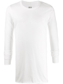 Rick Owens long sleeve longline top - White