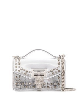 Philipp Plein studded top handle shoulder bag - SILVER