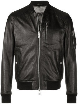 Belstaff leather bomber jacket - Black