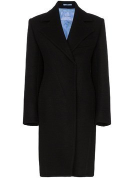 Mugler tailored mid length coat - Black