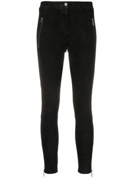 Arma suede skinny trousers - Black